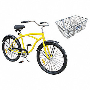 Industrial Bicycle,26 In,Front Basket