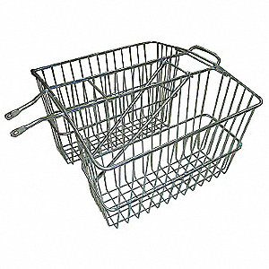Steel Mesh Bicycle Rear Basket, 24-1/4x 20-1/2 x 12-5/8""