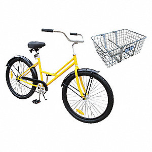Lady's Bicycle,26 In,Front Basket