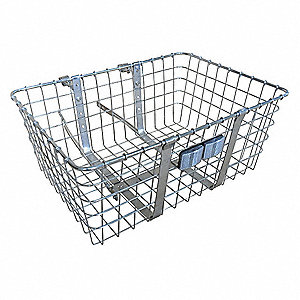 Steel Mesh Bicycle Front Basket, 21 x 15 x 9""