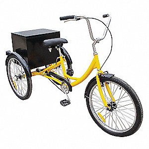 Industrial Tricycle,24 In,Rear Cabinet