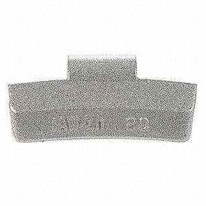 "2.65 x 0.772"" Zinc Clip-On Wheel Weight; PK25"