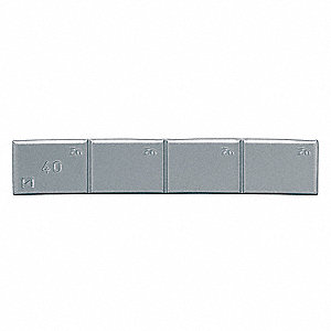 "4.25 x 0.23"" Zinc Adhesive Wheel Weight; PK25"