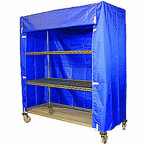 Cart Cover,48x18x62,Blue,Nylon