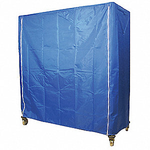 Cart Cover,48x24x62,Blue,Nylon,Zipper