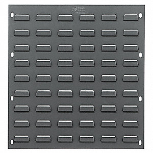 "Louvered Panel with 0 Bins, 18""W x 1/4""D x 19""H, Number of Sides: 1, 175 lb. Load Capacity"