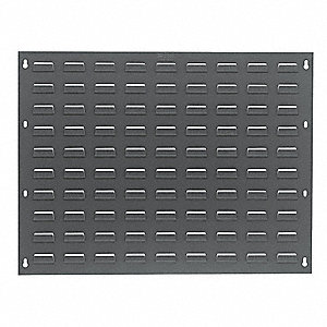 "Louvered Panel with 0 Bins, 27""W x 1/4""D x 21""H, Number of Sides: 1, 175 lb. Load Capacity"