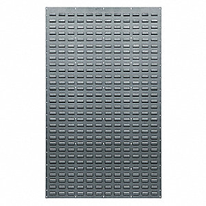 "Louvered Panel with 0 Bins, 36""W x 1""D x 61""H, Number of Sides: 1, 500 lb. Load Capacity"