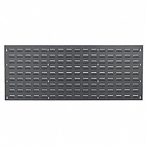 "Louvered Panel with 0 Bins, 48""W x 1""D x 19""H, Number of Sides: 1, 250 lb. Load Capacity"