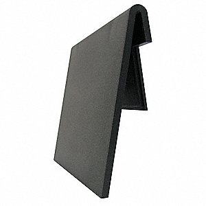 "Polypropylene Label Holder, Black, 4""L x 2-1/4""W, 24 PK"