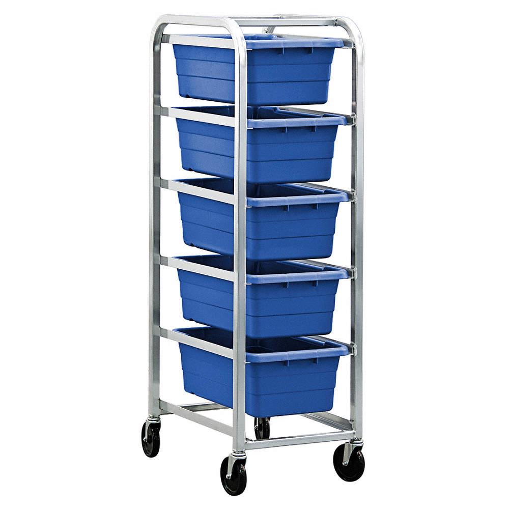 GRAINGER APPROVED Cross Stack Tub Rack w/5 Tubs,Blue - 33Z270|TR5 ...