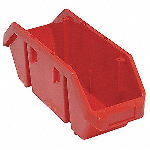HOPPER BIN,18-1/2X6-5/8X7,RED
