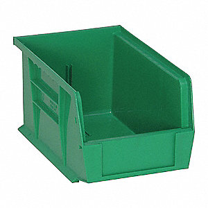 Hang and Stack Bin,6 In W,5 In H,Green