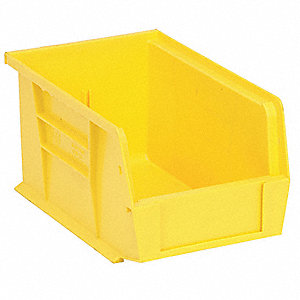 STACK/HANG BIN,9-1/4X6X5,YELLOW