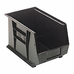 Hang/Stack Bin,13-5/8x8-1/4x8,Black