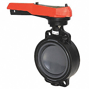 BUTTERFLY VALVE,PVC ,6 IN