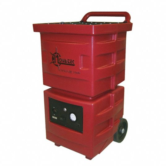 Negative Air Machine,  HP 1 hp,  Voltage 115 V,  HEPA,  Height 37 in,  Length 31 in,  Width 26 in