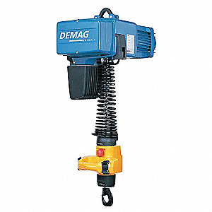 H4 Electric Chain Hoist, 250 lb. Load Capacity, 230V, 9 ft. Lift, 96/24 fpm