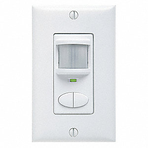 Wall Switch Box Hard Wired Occupancy Sensor, 2025 sq. ft. Passive Infrared, White