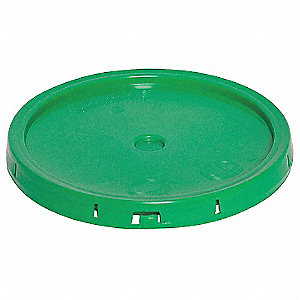 Plastic Pail Lid,Green,For 34A221,34A225