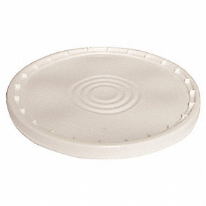 Plastic Pail Lid,Snap,Round,White