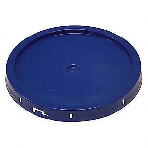 Plastic Pail Lid,Blue,For 34A218,34A222