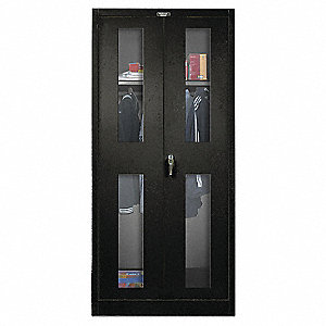 Wardrobe Storage Cabinet,Black,78 In. H