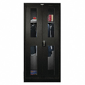 "Storage Cabinet, Black, 78"" Overall Height, Unassembled"