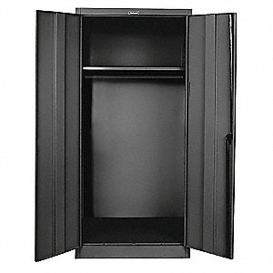 "Commercial Storage Cabinet, Black, 78"" H X 48"" W X 18"" D, Unassembled"