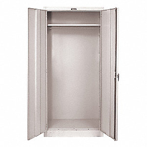 "Commercial Storage Cabinet, Light Gray, 78"" H X 48"" W X 24"" D, Unassembled"