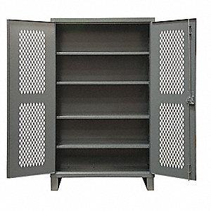 Durham Heavy Duty Storage Cabinet Gray 78 H X 48 W 24 D Embled 34a935 Hdcv244878 4s95 Grainger