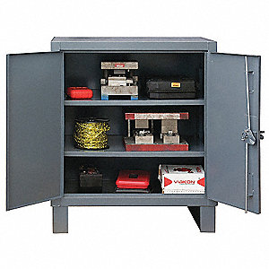 "Storage Cabinet, Gray, 42"" Overall Height, Assembled"