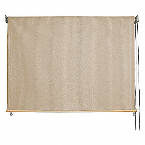 "Exterior Sun Shade, Polyethylene with UV Stabilizers, Monterey, 70-1/8"", Fabric Drop 72"""