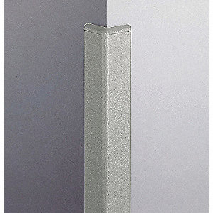 Corner Grd,2in.W,Silver Gray,Textured