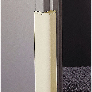 "96"" Door Frame Protector, Wing Width 3"", Champagne PVC"