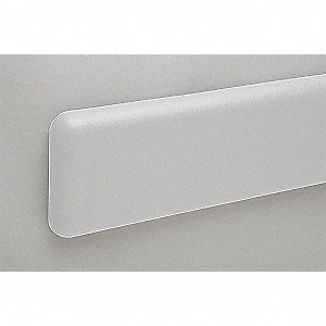 Wall Protection Guard,6inH,Silver-Gray