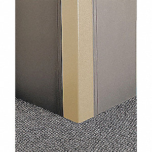 Corner Grd,96in.Hx,2in.W,Tan