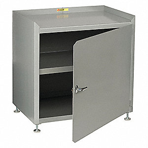 "Heavy Duty Storage Cabinet, Gray, 41"" H X 18"" D"