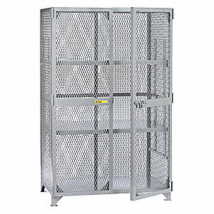 "Bulk Storage Locker, Openings: 1, Shelves: 2, 61""W X 33""D X 78""H"