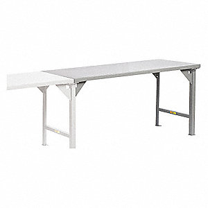 LITTLE GIANT Fixed Height Work Table Steel Depth Height - Conference room table height