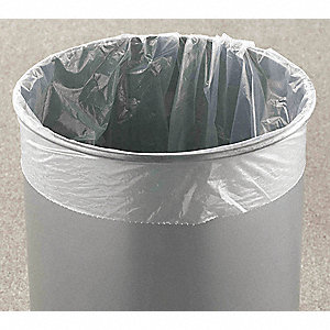 30 gal. Super Heavy Trash Bags, Clear, Flat Pack of 100