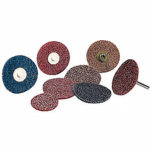 "2"" Non-Woven Quick Change Disc, TR Roll-On/Off Type 3, Medium, Aluminum Oxide, 1 EA"