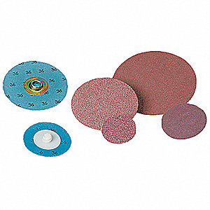 "2"" Coated Quick Change Disc, TR Roll-On/Off Type 3, 36, Extra Coarse, Aluminum Oxide, 100 PK"
