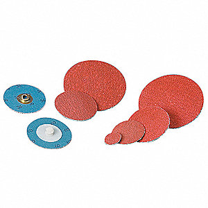 "2"" Coated Quick Change Disc, TR Roll-On/Off Type 3, 60, Coarse, Ceramic, 100 PK"
