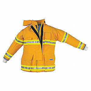 ATTACK COAT YLW NOMEX 40IN CHEST