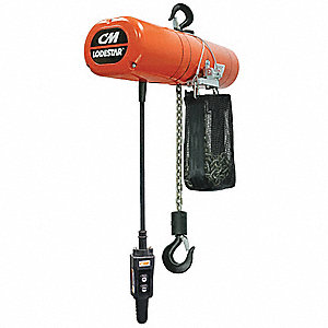 H4 Electric Chain Hoist, 1000 lb. Load Capacity, 460V, 10 ft. Lift, 8 fpm