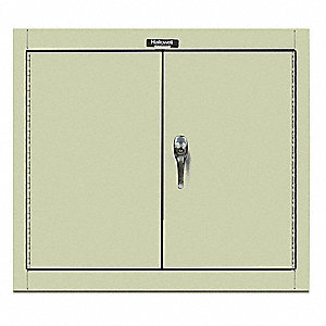 "Parchment Wall Mount Storage Cabinet, 30"" Overall Height, 36"" Overall Width, Number of Shelves 1"