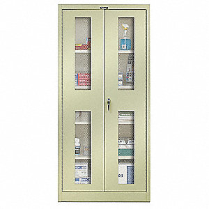 "Commercial Storage Cabinet, Tan, 72"" H X 36"" W X 18"" D, Assembled"
