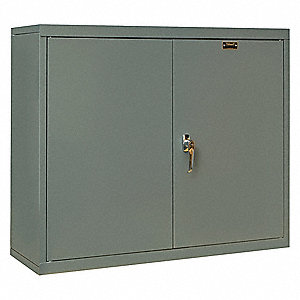 Dark Gray Wall Cabinet, Number of Shelves 1