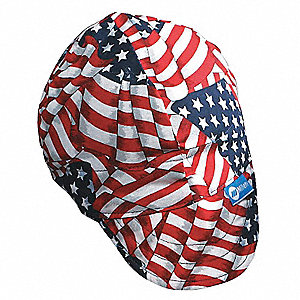 Welding Cap,Color Red/White/Blue,7-3/4